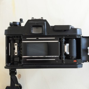 Open back film camera
