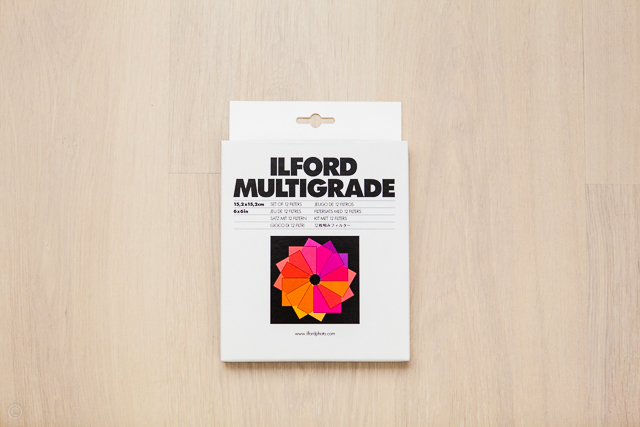 Ilford multigrade filter box, film photography