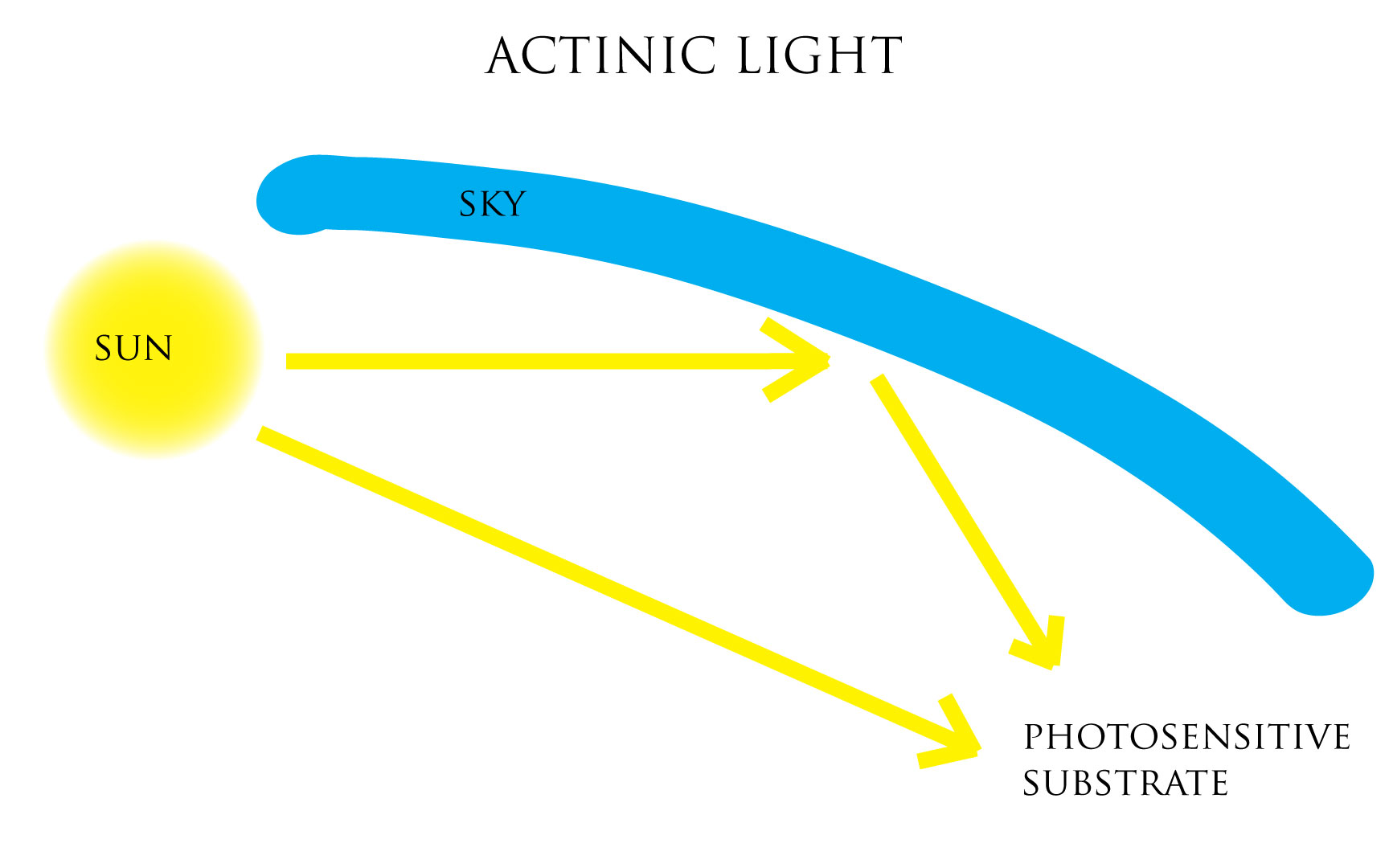 Illustration: actinic light, film photography