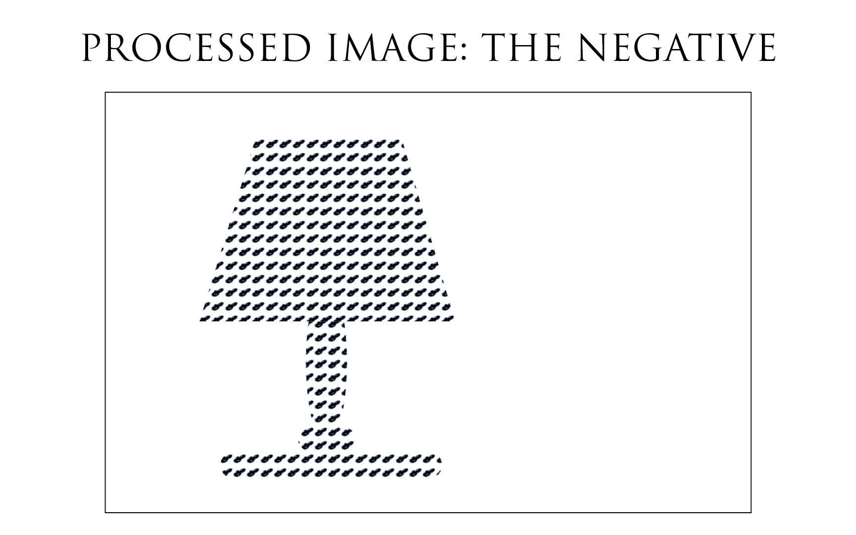 Illustration: fully processed negative