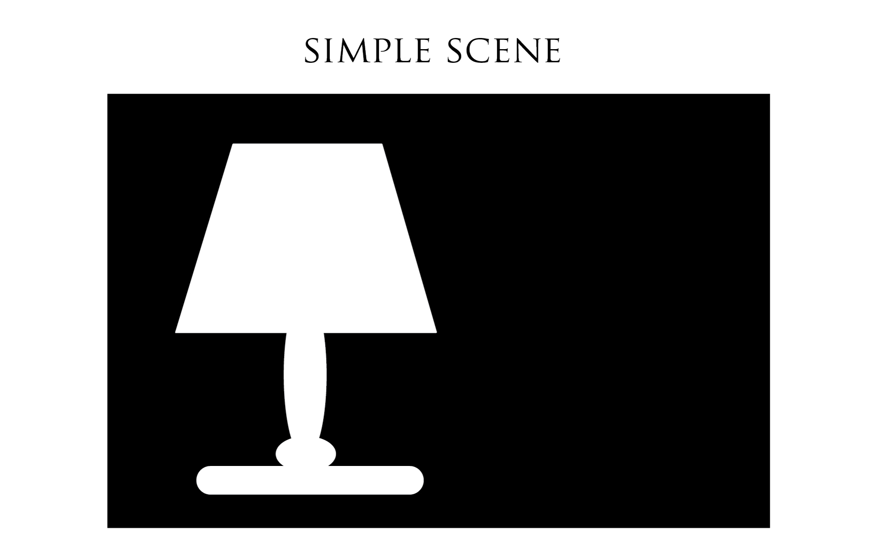 Illustration: simple dark scene example