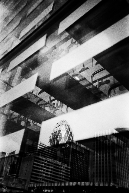 La Défense Shot with Single Use Camera Ilford HP5